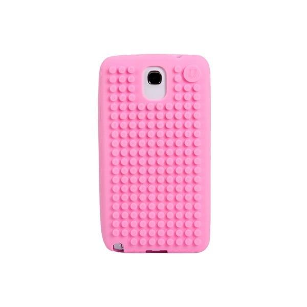 Pixelový obal na Samsung Note 3, růžová