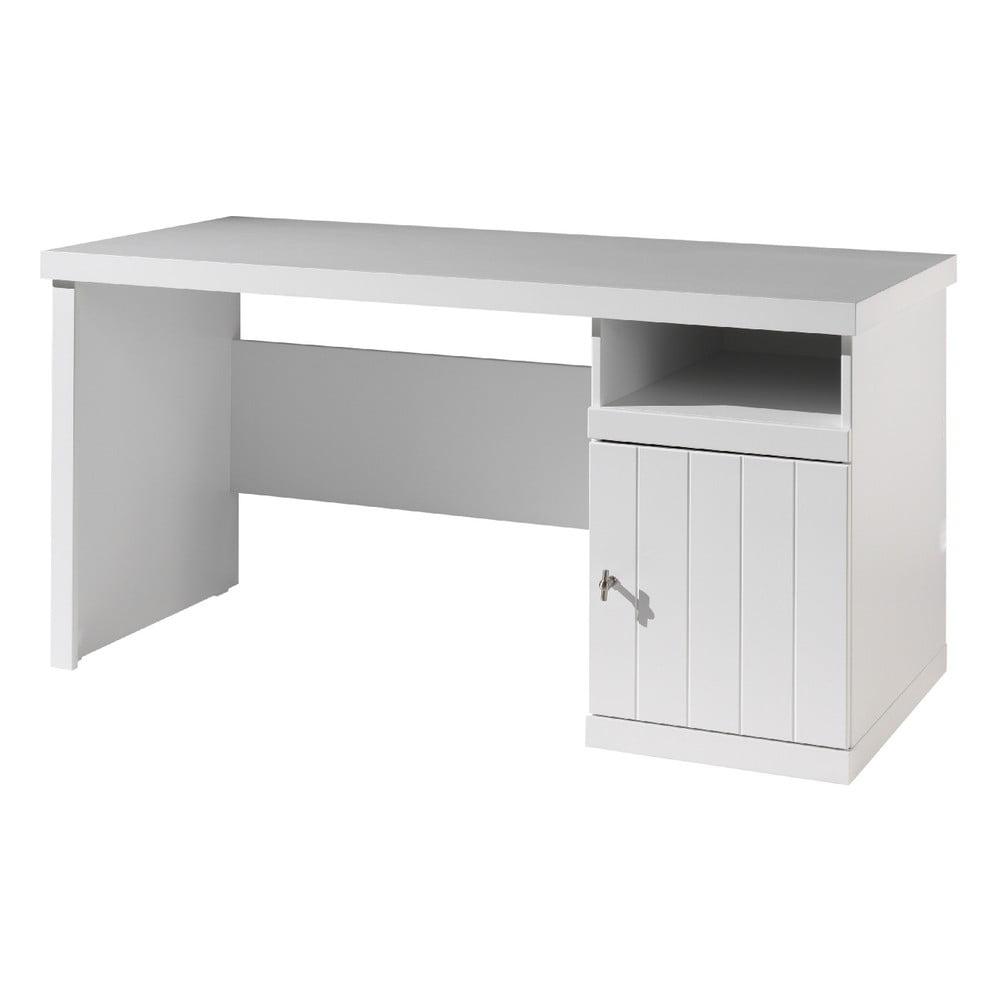 Bílý dětský psací stůl Vipack Robin, délka 70 cm