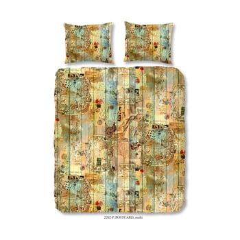 Lenjerie de pat din bumbac satinat Muller Textiels Zunna, 200 x 200 cm de la Muller Textiels