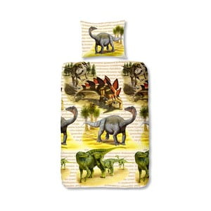 Dětské flanelové povlečení Muller Textiel Dinos, 140 x 200 cm