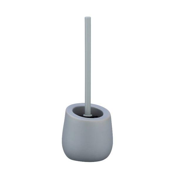 Szara ceramiczna szczotka do WC Wenko Badi