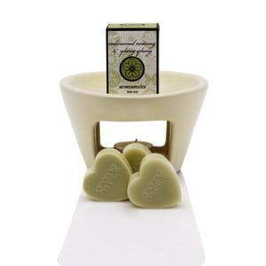 Aromalampa s vonnými vosky s vůní levandule a heřmánku Aromabotanical Sweet Home, dobahoření30hodin
