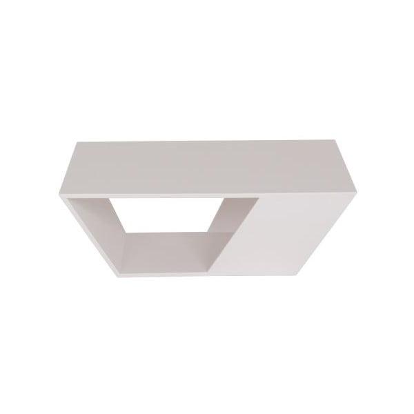 Venkovní konferenční stolek Gem White, 75x75 cm