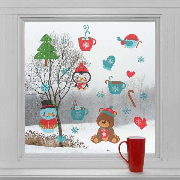 Elektrostatické vánoční samolepky Vánoční pohoda