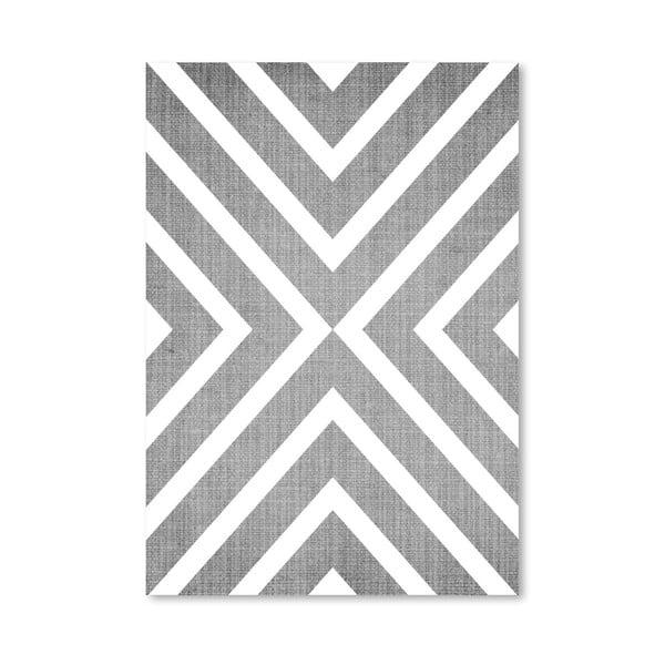 Plakát Geometric White Grey
