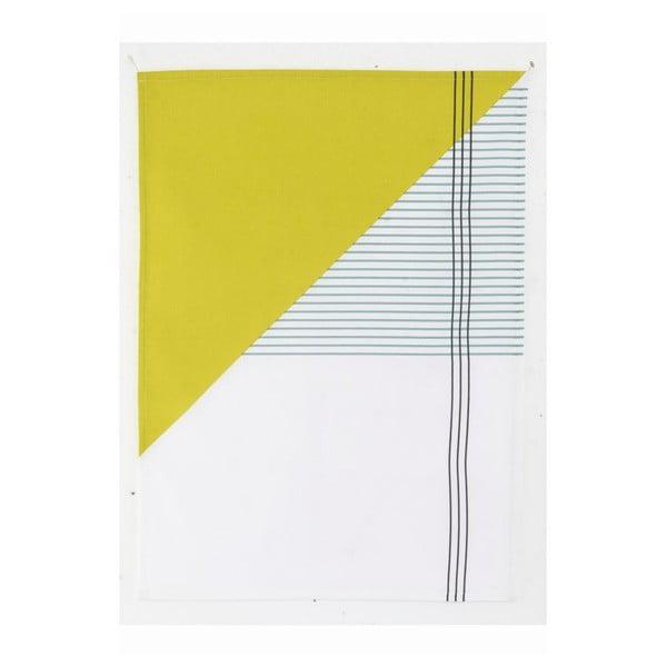Kuchyňská utěrka Geometry Yellow, 50x70 cm