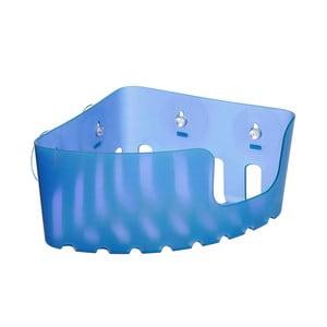 Modrý nástěnný rohový koupelnový košík bez nutnosti vrtání Ta-Tay Corner Storage Basket Standart