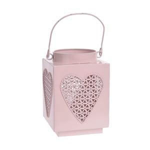 Kovová lucerna Pink Heart