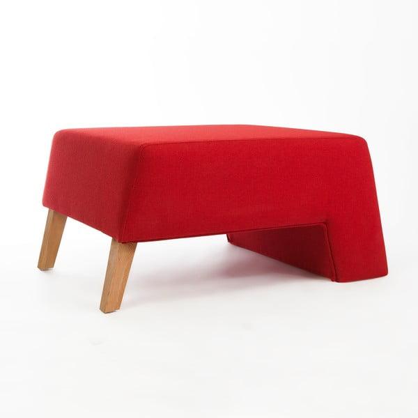 Sedací taburetka Kate, červená