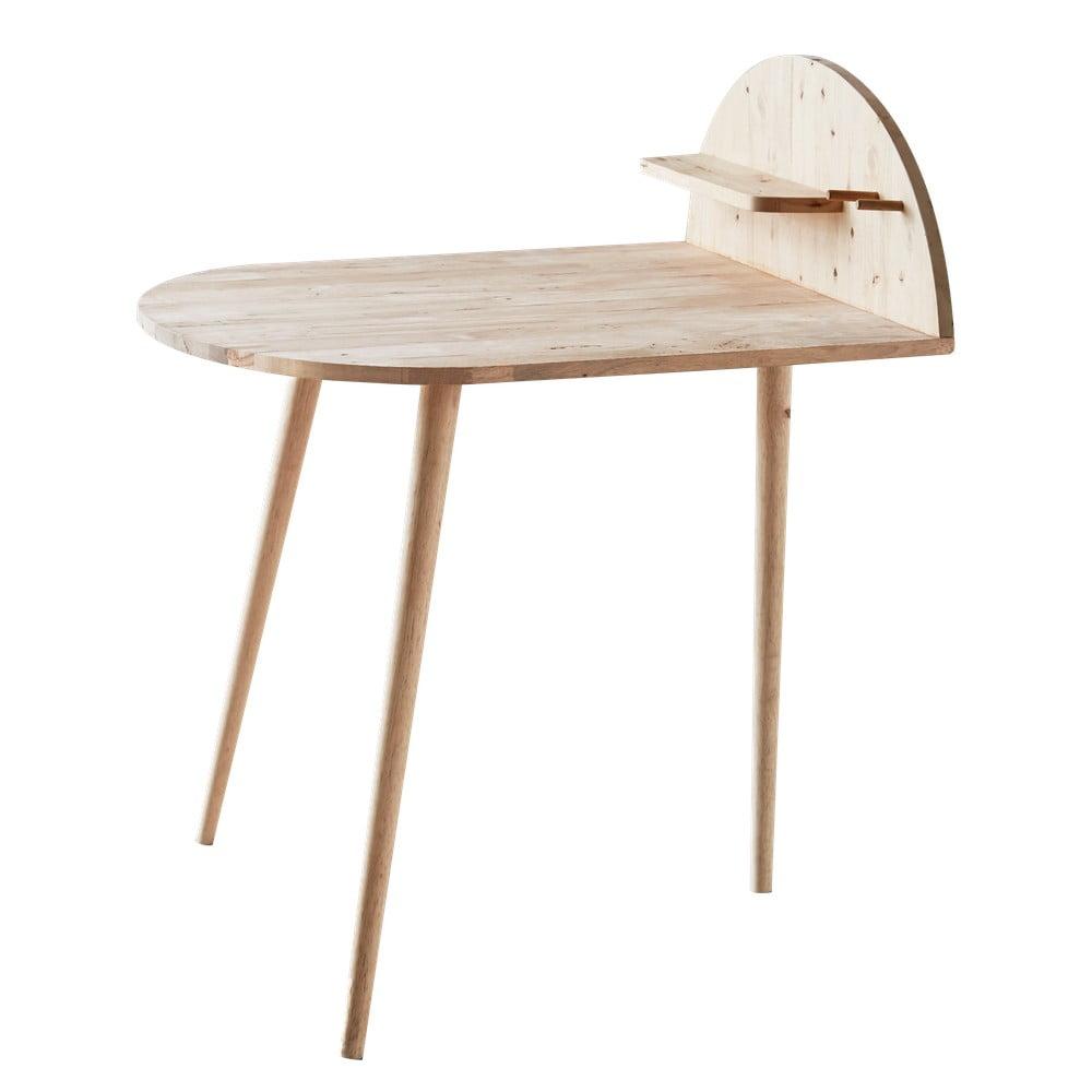 Jídelní stůl ke zdi s odkládací poličkou DEEP Furniture Ted, 75x78x98,5cm