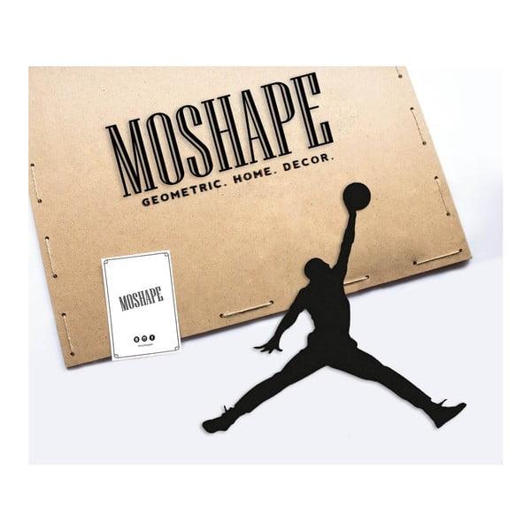 Černá kovová nástěnná dekorace Basketball