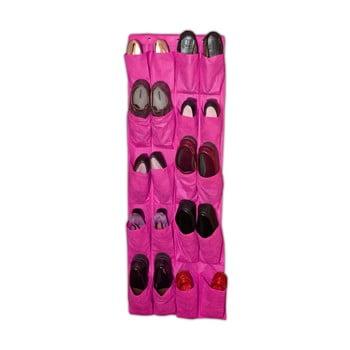 Organizator suspendat pentru încălțăminte JOCCA Twenty, 135 x 48 cm, roz imagine