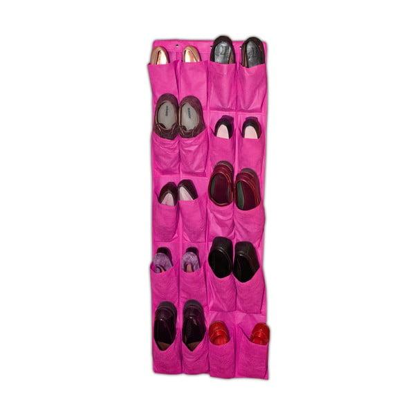 Twenty rózsaszín függő cipőtároló, 135 x 48 cm - JOCCA