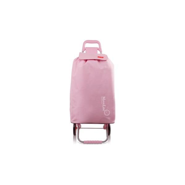 Ružová nákupná taška na kolieskach Bluestar Amsterdam, 104 l