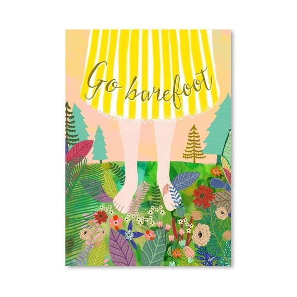 Plakát od Mia Charro - Go Barefoot