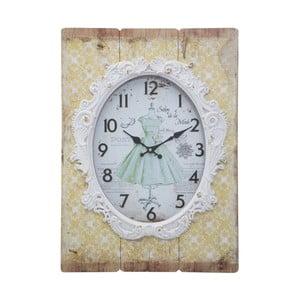 Žluté nástěnné hodiny Mauro Ferretti Shabby Dream, 42 x 58 cm