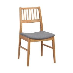 Přírodní dubová židle se šedým sedákem  Folke Hod