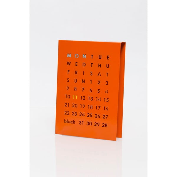 Magnetický kalendář na stůl Perpetual Calendar, oranžový