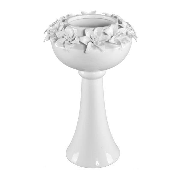 Bílá keramická váza Mauro Ferretti Lilium, výška 39 cm