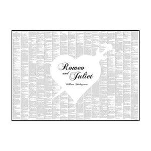 Knižní plakát Romeo a Julie, 70x50 cm