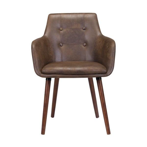 Hnědá jídelní židle s podnožím ze dřeva gumovníku Actona Johannesburg