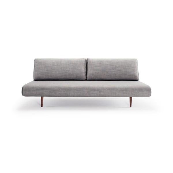 Šedá rozkládací pohovka Innovation Unfurl Lounger Linen Ash Grey