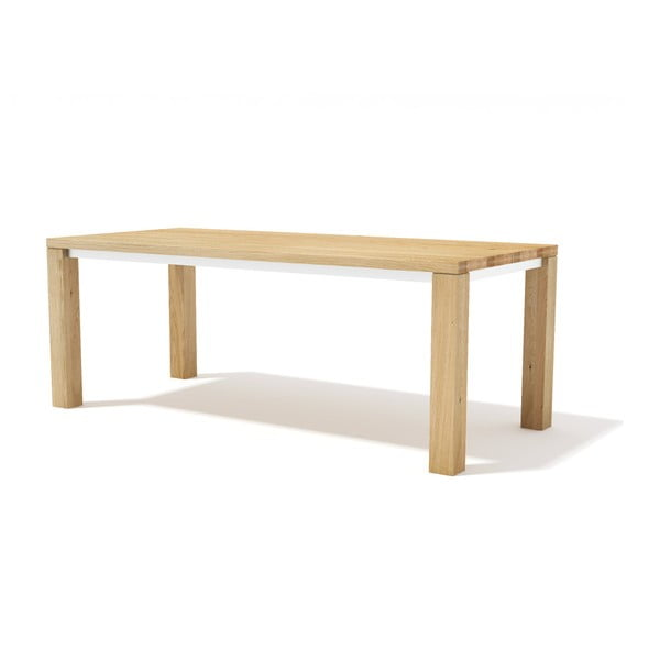 Masă pentru sufragerie, din lemn masiv de stejar Javorina Next, 200 cm