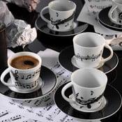 Sada 6 porcelánových šálků s podšálky Kutahya Song