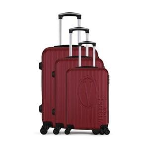 Sada 3 vínových cestovních kufrů na kolečkách VERTIGO Cadenas Integre Roues