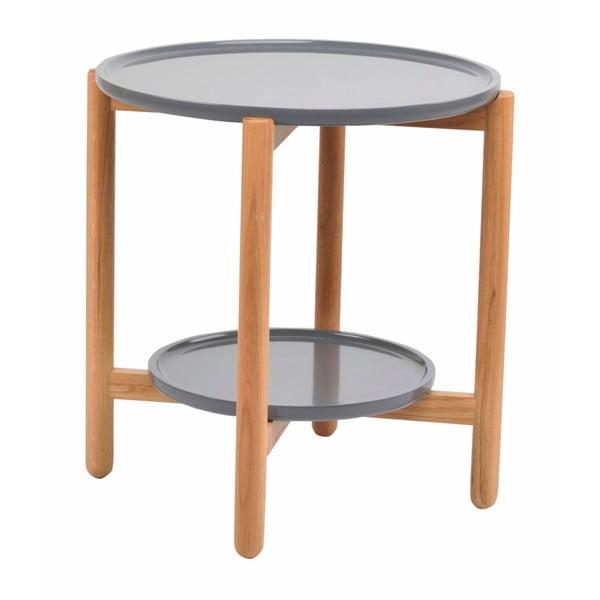 Wendigo szürke tölgyfa tárolóasztal, ⌀ 55 cm - Folke
