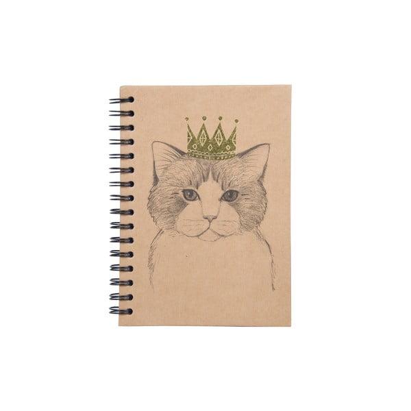 Spirálový zápisník Tri-Coastal Design Queen Cat