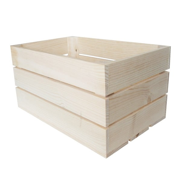 Přepravka Caja Rustica Natural, 50x25x30 cm