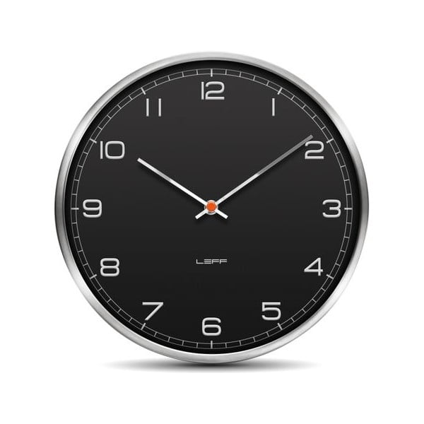 Nástěnné hodiny Arabic Black, 45 cm