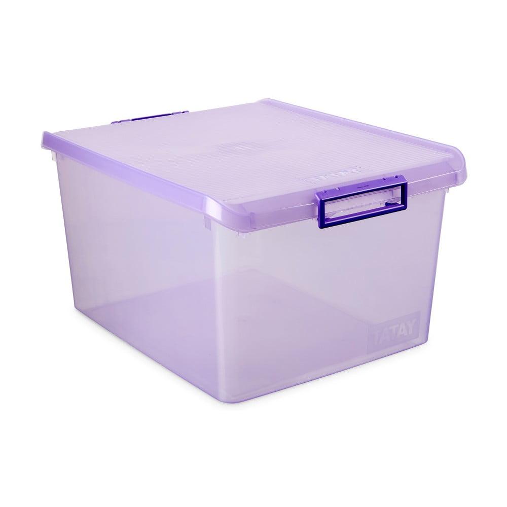 Fialový úložný box s víkem Ta-Tay Storage Box, 35 l