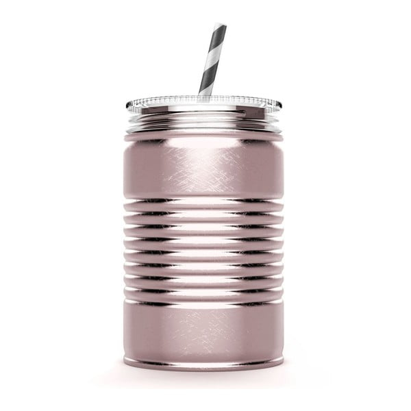 Růžový termohrnek I Can Asobu,540ml