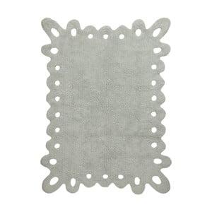 Šedý bavlněný ručně vyráběný koberec Lorena Canals Lace, 120x160cm