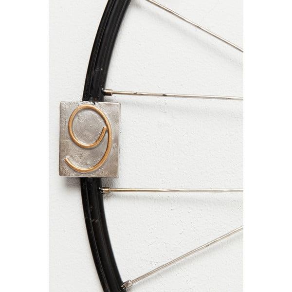 Ceas de perete Kare Design Spoke Wheel, diametru 80 cm