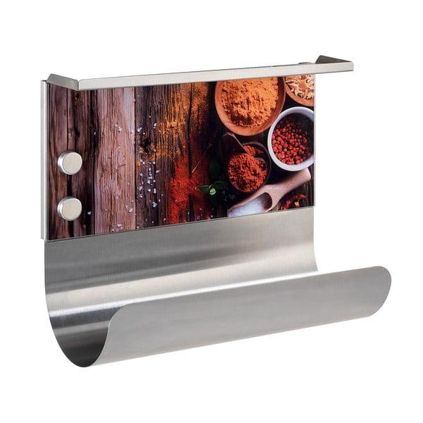 Suport magnetic pentru prosoape de bucătărie cu raft Wenko Spices