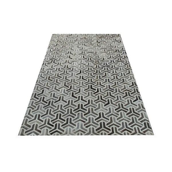 Koberec z pravé kůže Bolzano Grey, 120x180 cm