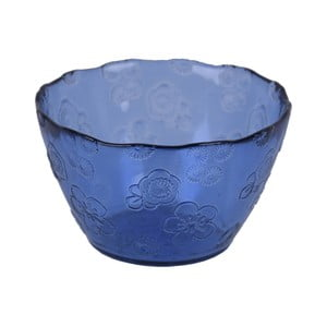 Modrá skleněná miska EgoDekorFlora, 14 cm