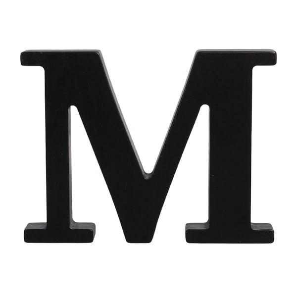 Černé dřevěné písmeno Typoland M