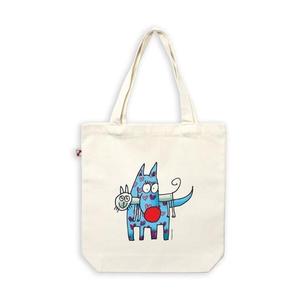 Plátěná taška Kočka a pes