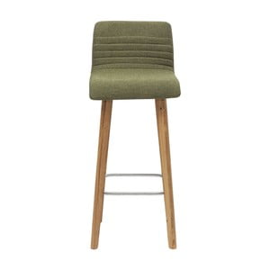 Olivově zelená barová židle Kare Design Lara