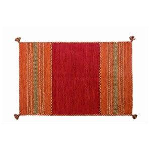 Červený ručně tkaný koberec Navaei & Co Kilim Tribal 606, 170x110cm