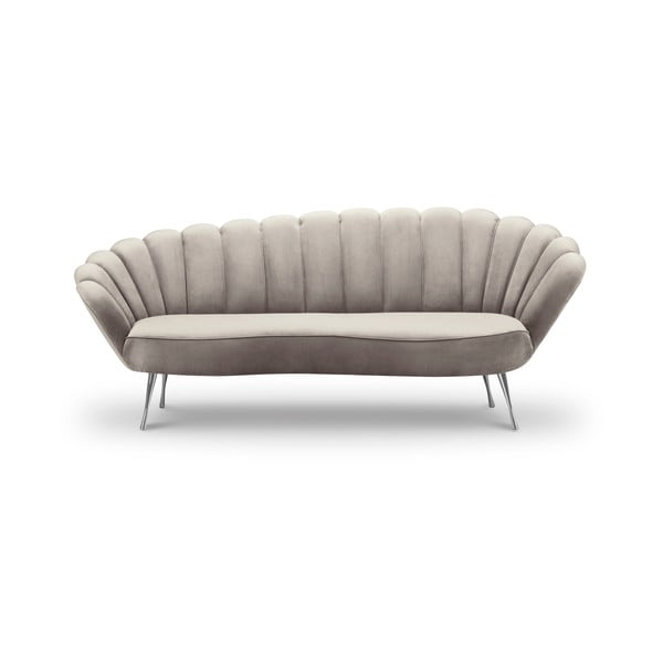 Varenne bézs bársony aszimmetrikus kanapé, 224 cm - Interieurs 86