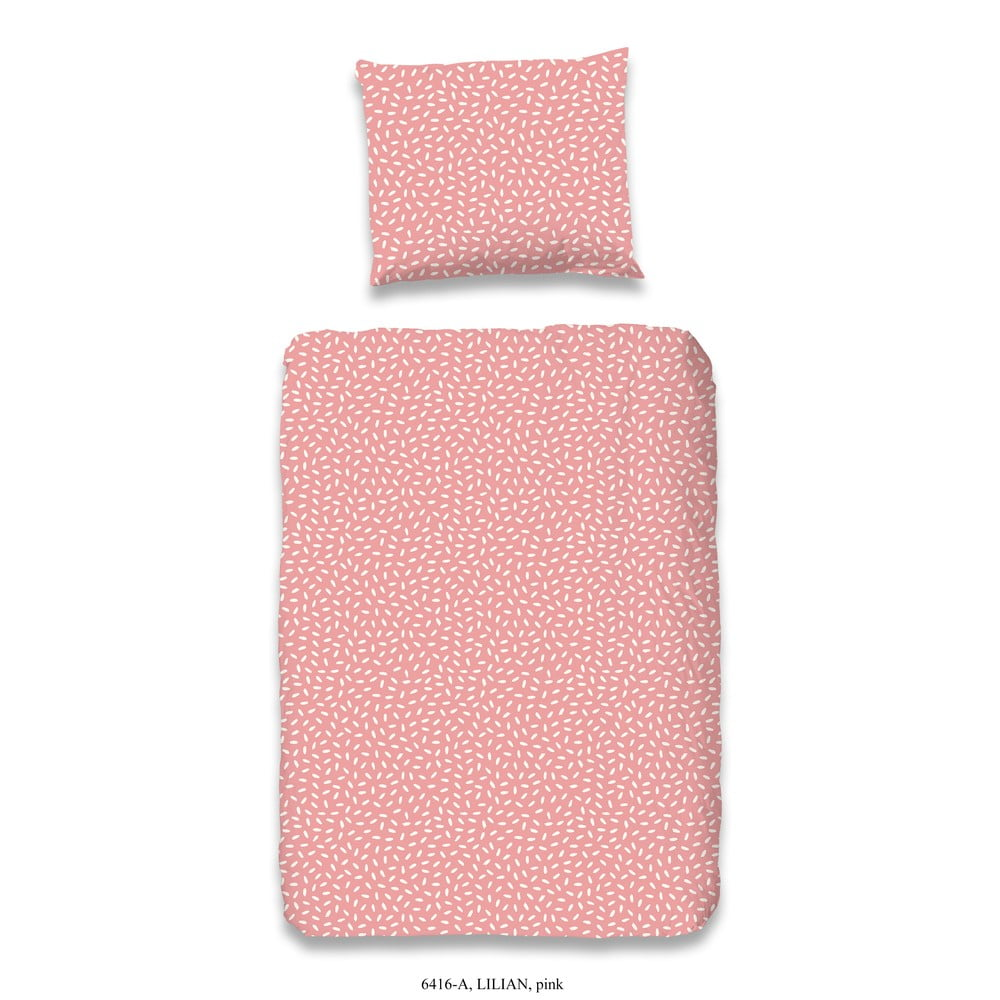 Dětské růžové povlečení z bavlny Good Morning Lilian