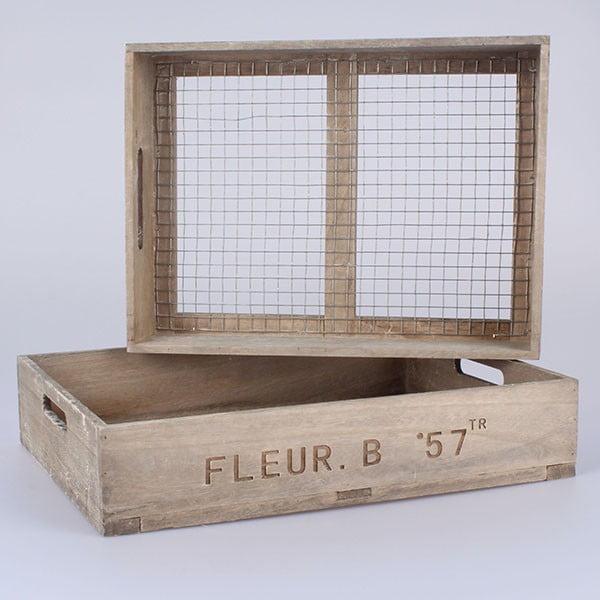 Sada 2 přepravek s pletivem Dakls Fleur