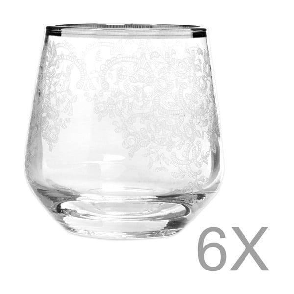 Sada 6 sklenic Mezzo Snow, 95 ml