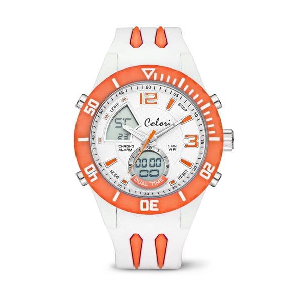 Hodinky Colori Anadigi 48 White Neon Orange