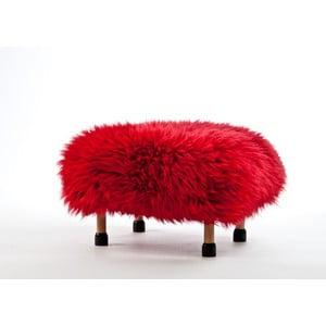 Stolička z ovčí kůže Nia Dragon Red